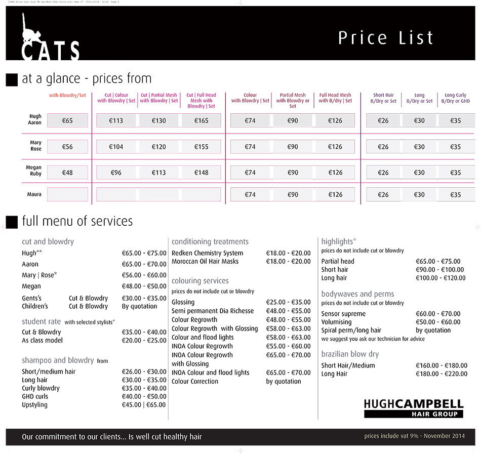 CATS-Price-List