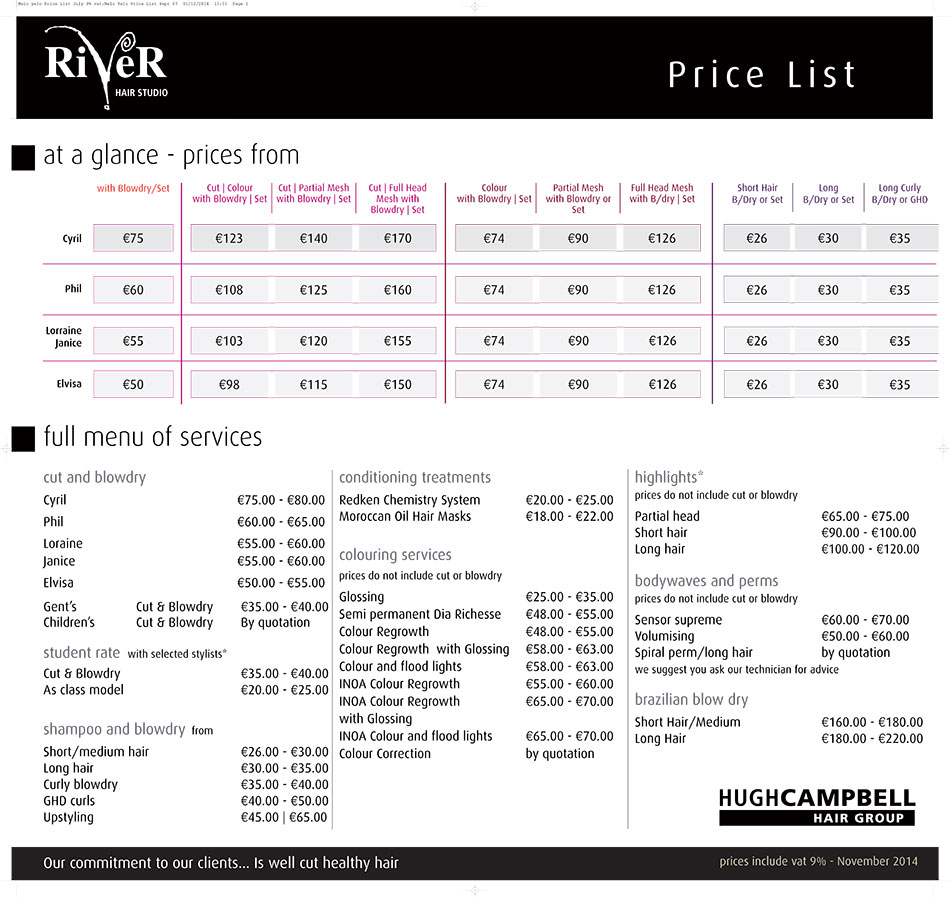 River-Price-List