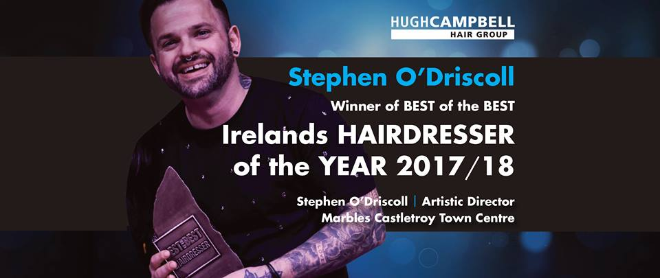 The BEST of The BEST Stephen ODriscoll Wins National Hairdressing Award for Limerick