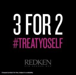 Redken 3 for 2 Offer