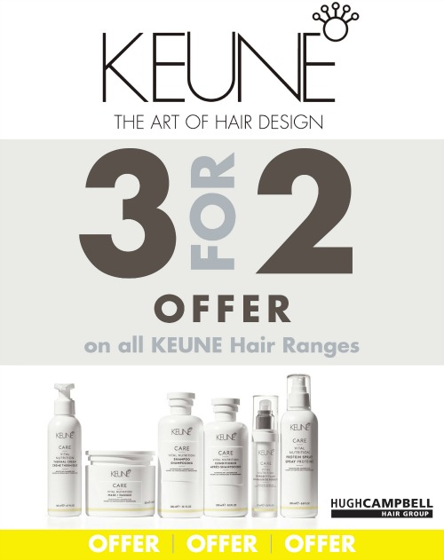 Keune 3 for 2 Offer