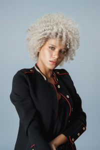 afro blonde