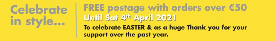 Free Postage Offer at Hugh Campbell Online Shop